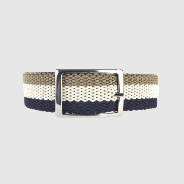 Navi/White/Khaki Foxtrot Reversible Belt