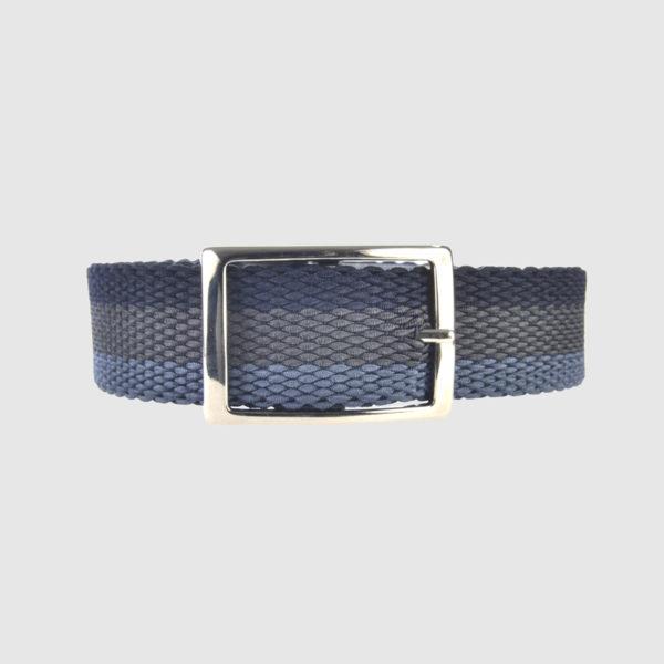 Indigo/Manatee/Navy Foxtrot Reversible Belt