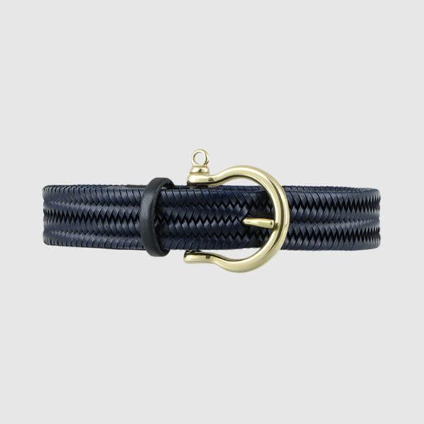 Blue Navigator Woven Belt