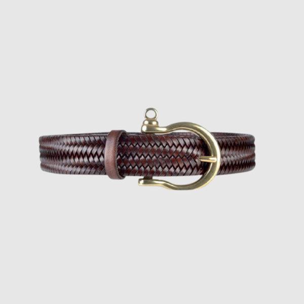Brown Navigator Woven Belt