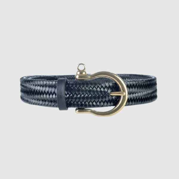 Black Navigator Woven Belt