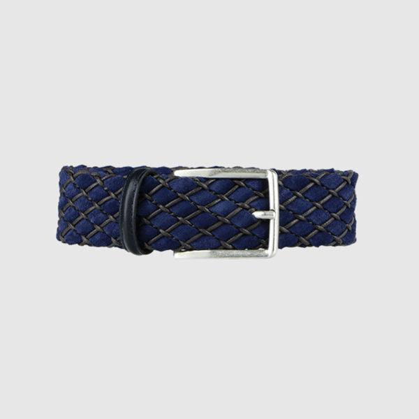 Blue Huntsman Braided Suede Belt
