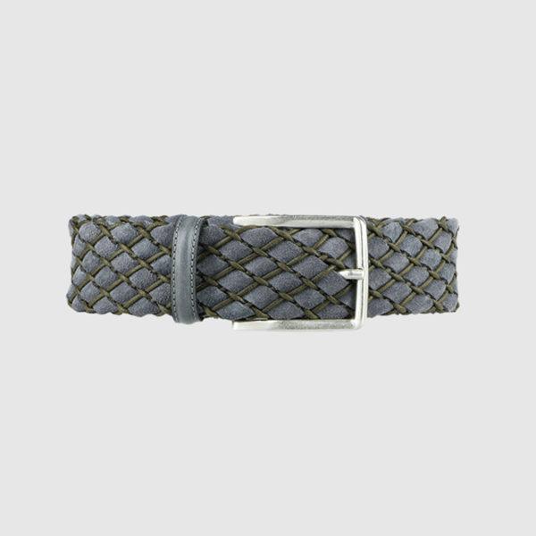 Grey Huntsman Braided Suede Belt