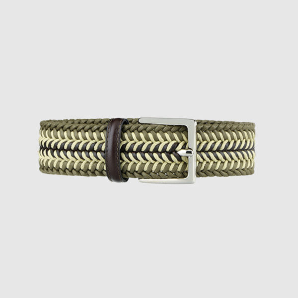 Khaki Topwater Woven Wool Belt