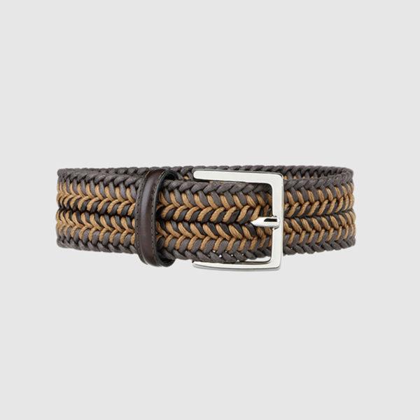 Electric Blue/Khaki Topwater Woven Wool Belt