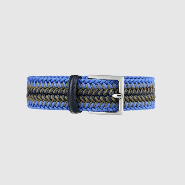 Brown Topwater Woven Wool Belt