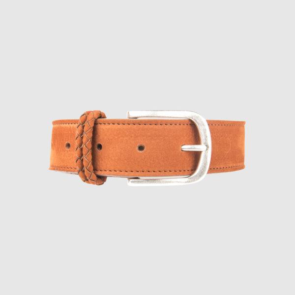 Orange Nabuk Leather Belt