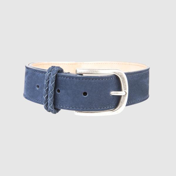Blue Nabuk Leather Belt