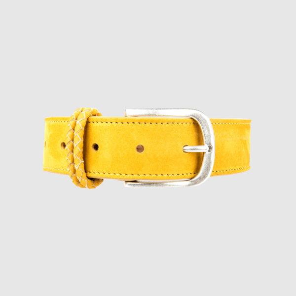 Yellow Nabuk Leather Belt