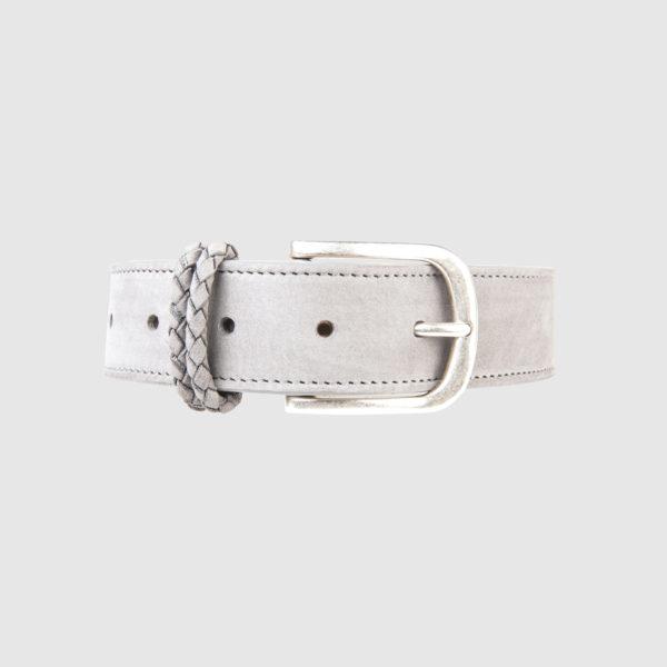 Grey Nabuk Leather Belt