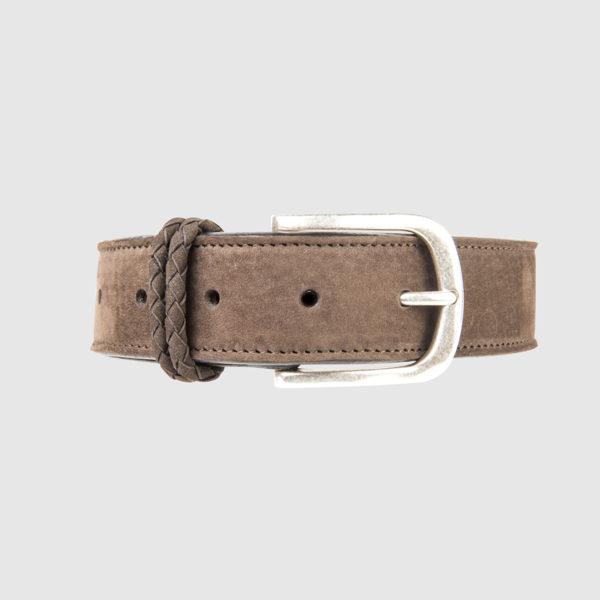 Brown Nabuk Leather Belt