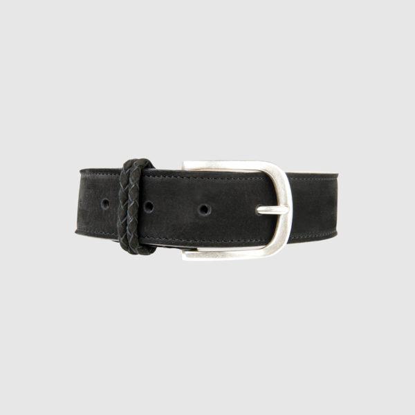 Black Nabuk Leather Belt