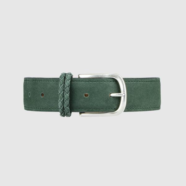 Green Nabuk Leather Belt