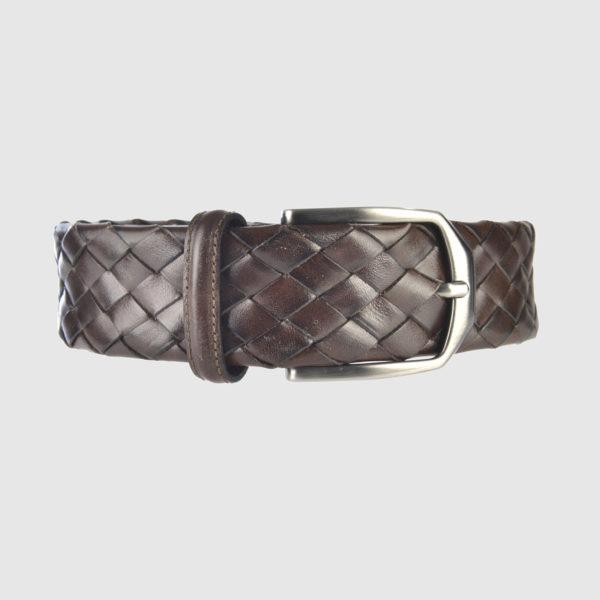 Cintura Intrecciata in Pelle di Vitello