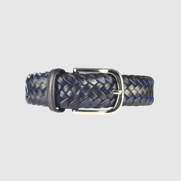 Navy/Red Special Edition Braided Leather Belt