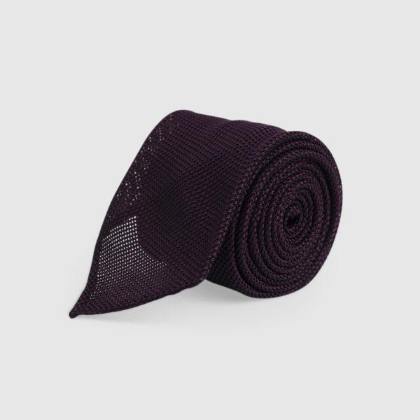 Cravatta Garza 3 Pieghe 100% Seta Blu/purple
