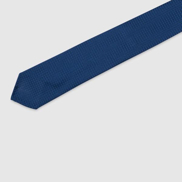 Cravatta Garza 3 Pieghe 100% Seta Blu Royal