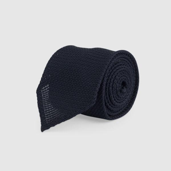 Cravatta Garza 3 Pieghe 100% Seta Blu
