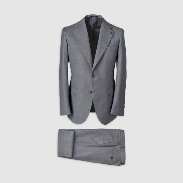 Grey Smart Suit in 130s Four Seasons Wool