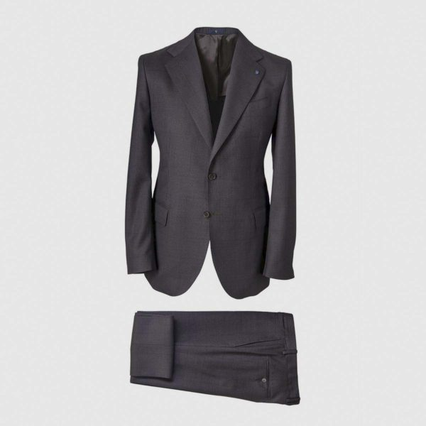 Smart Suit in Dark Grey 130s Four Seasons Wool