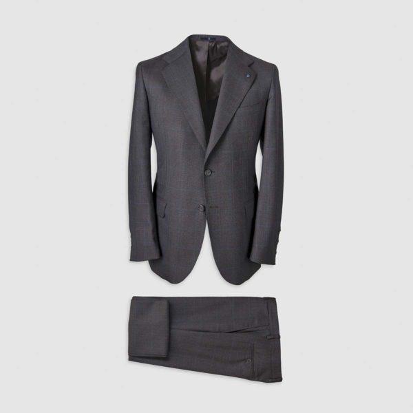 Blue Windowpane Pattern Smart Suit in 130s Four Seasons Wool