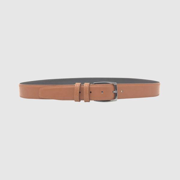Cognac/Dark Brown Spartan Leather Belt