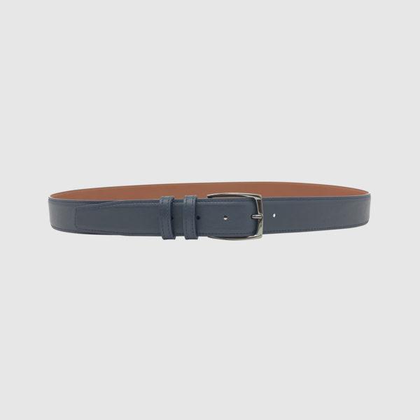 Blue/Cognac Spartan Leather Belt