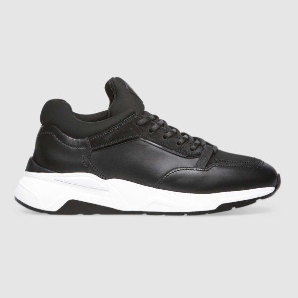 Sneaker Fabi in morbido vitello nero