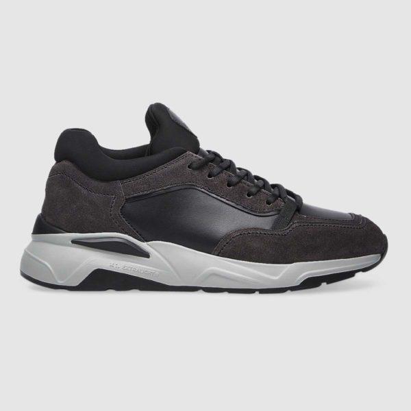 Sneaker Fabi in morbido vitello grigio