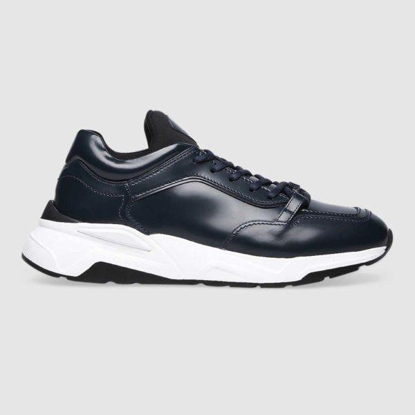 Sneaker Fabi in morbido vitello blu