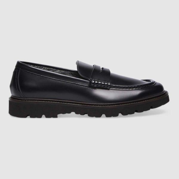 Moccasins in black soft calfskin