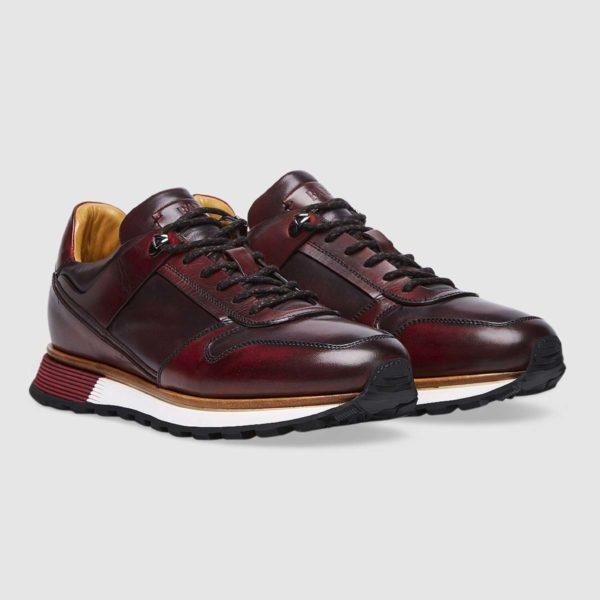 Sneaker Stile Trekking Bordeaux