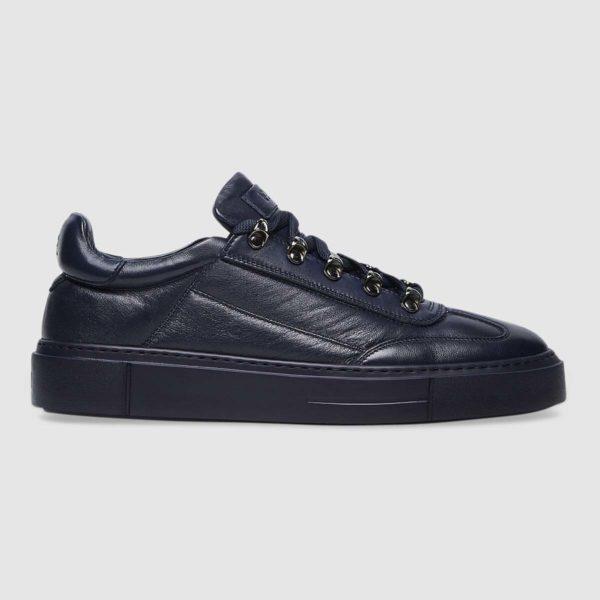 Sneaker total blue in nappa
