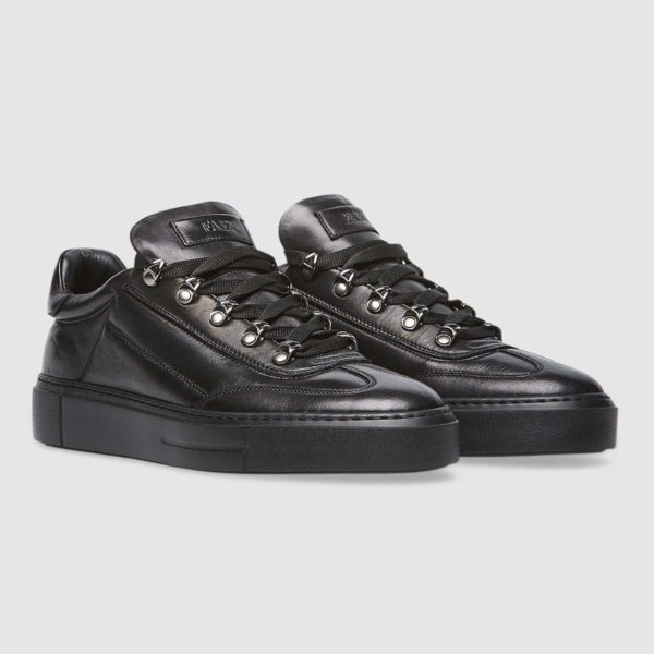 Sneaker all black in nappa