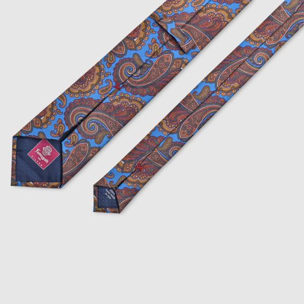 100% Printed Silk Kashmir Tie