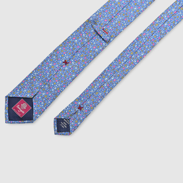100% Printed Floreal Silk Tie