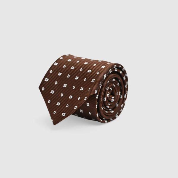 100% Silk Jacquard Tie with Iconic Patterns