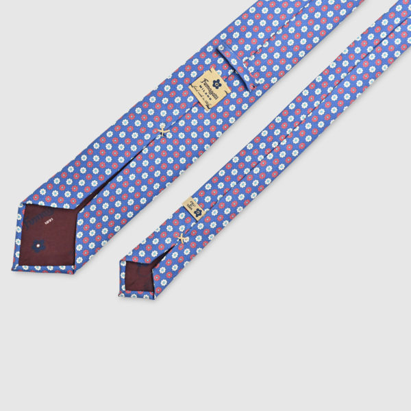 100% Printed Silk Tie with Iconic Patterns