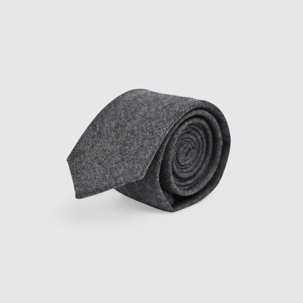 100% Grey Wool Tie