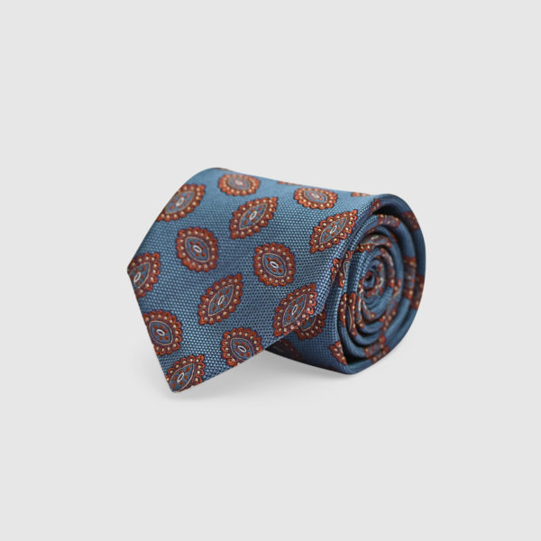 Cravatta Pattern iconici 100% Seta stampata