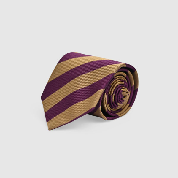 Cravatta regimental 100% Seta