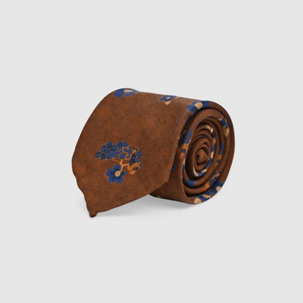 Cravatta sfoderata con Pattern iconici 100% Seta
