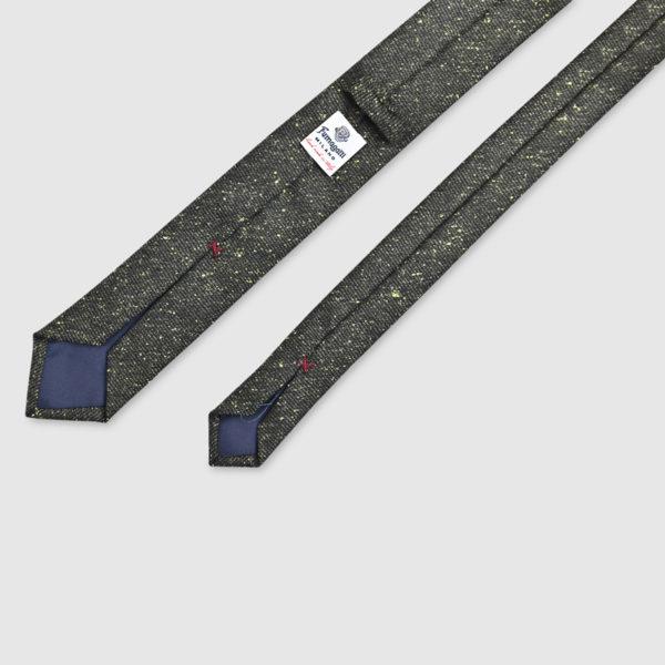 100% Grey/Gold Mélange Wool Tie