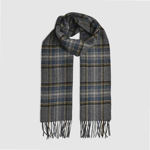 Fringed tartan 100% Wool Scarf