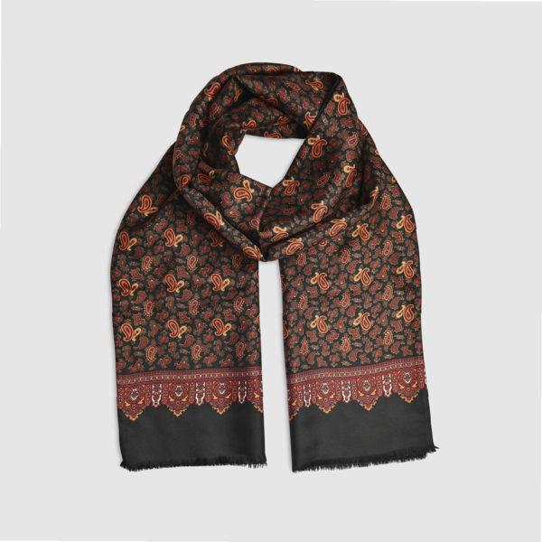 Fringed Scarf Silk & Wool