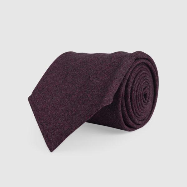 Cravatta 3 Pieghe 100% Lana Purple