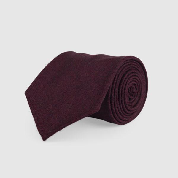 Cravatta 3 Pieghe 100% Lana Burgundy