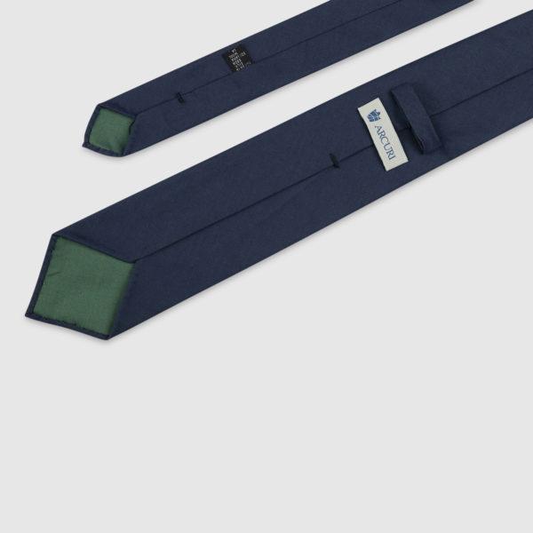 Cravatta 3 Pieghe 100% Lana Blu