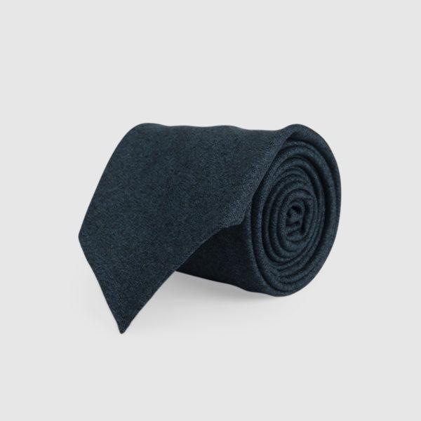 Cravatta 3 Pieghe 100% Lana Verde