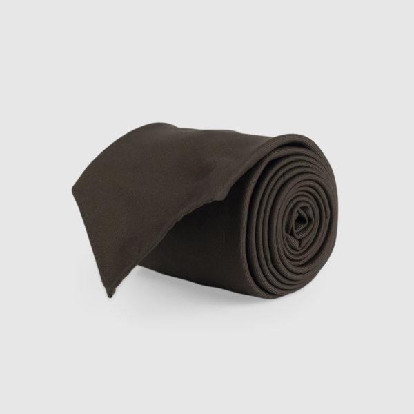 Cravatta 3 Pieghe 100% Lana Marrone